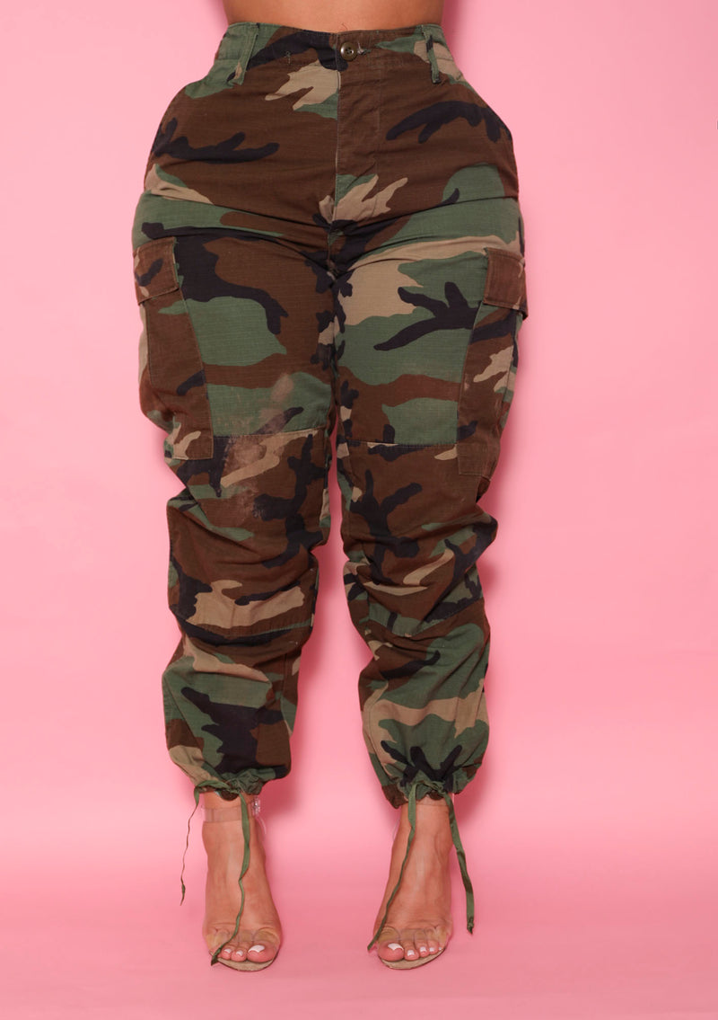 The Vintage Camo Pant in Army - Babes And Felines | Specializing in Fashionable Staple Pieces for Every Shape and Size (1592410079304)