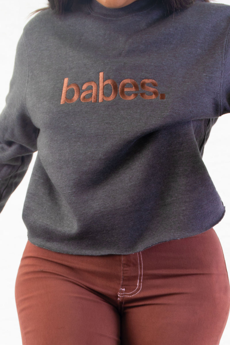 Charcoal Team Babes Crewneck (Special Edition)