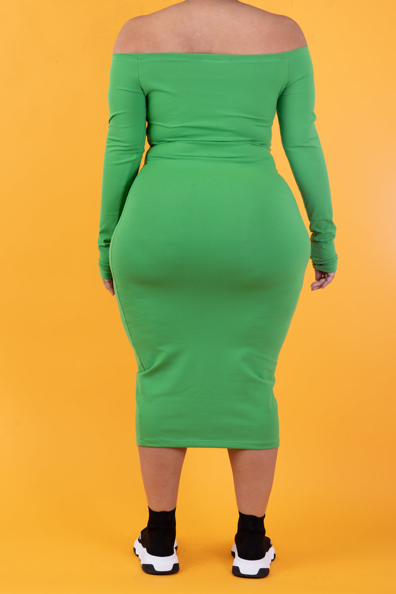 The Wifey Shaping Midi *Money Green*