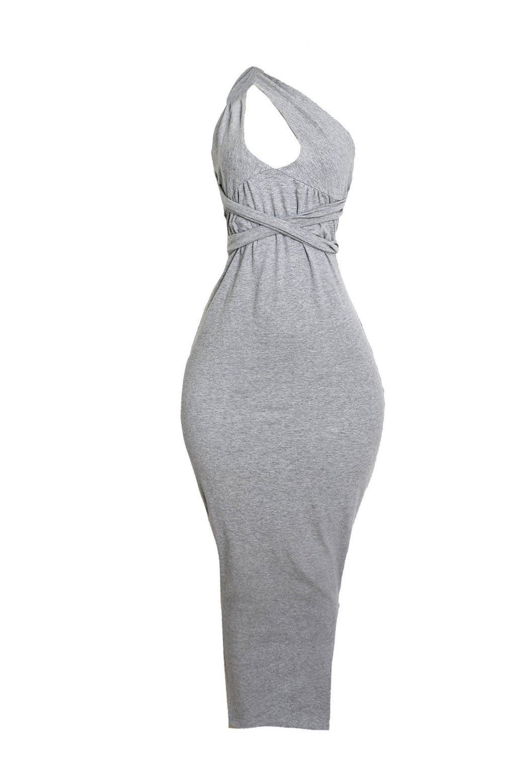 Tie Bodycon Dress (Gray)