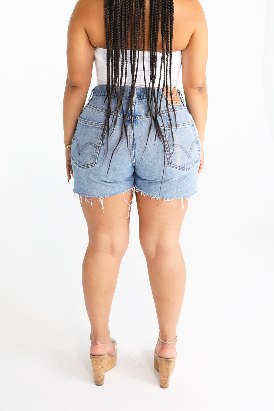 The High Waist Babe Denim Stretch Skirt - Babes And Felines | Specializing in Fashionable Staple Pieces for Every Shape and Size