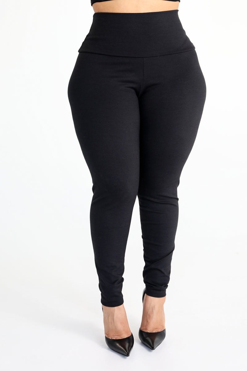 The Gray Cotton Tummy Control Legging (fits up to Plus) - Babes And Felines | Specializing in Fashionable Staple Pieces for Every Shape and Size (11043034964)