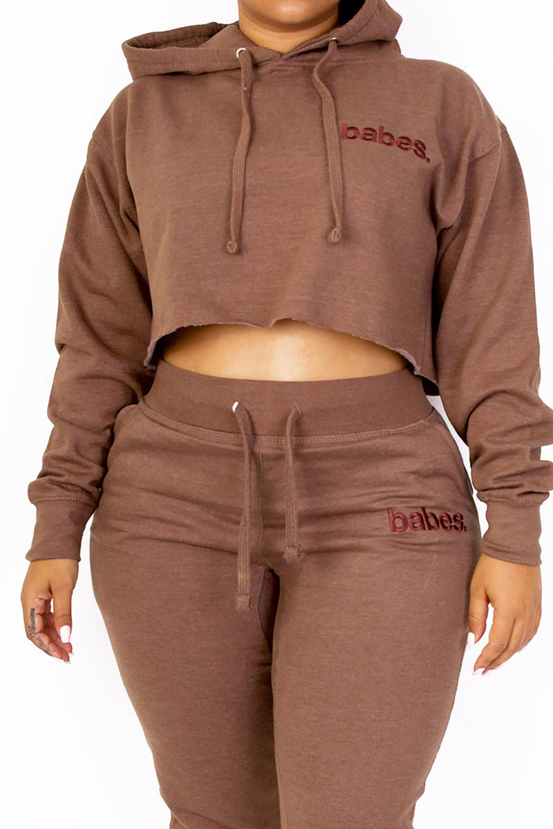 "Babes Comfy Hoodie ""Cropped Mocha"""