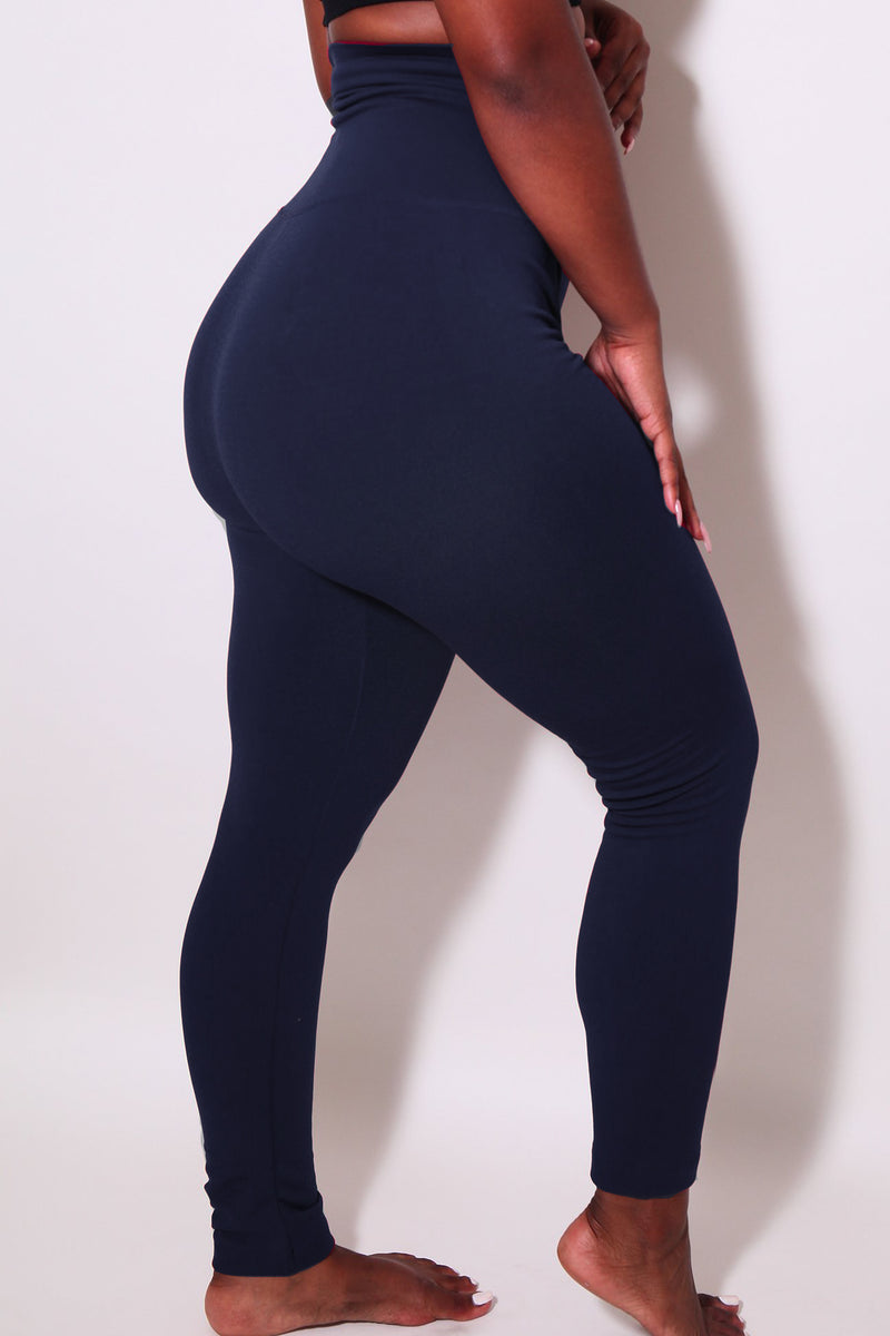 The Navy Yoga Tummy Control Legging fits up to PLUS! (Choose Your Size!) - Babes And Felines | Specializing in Fashionable Staple Pieces for Every Shape and Size (1596424224840)