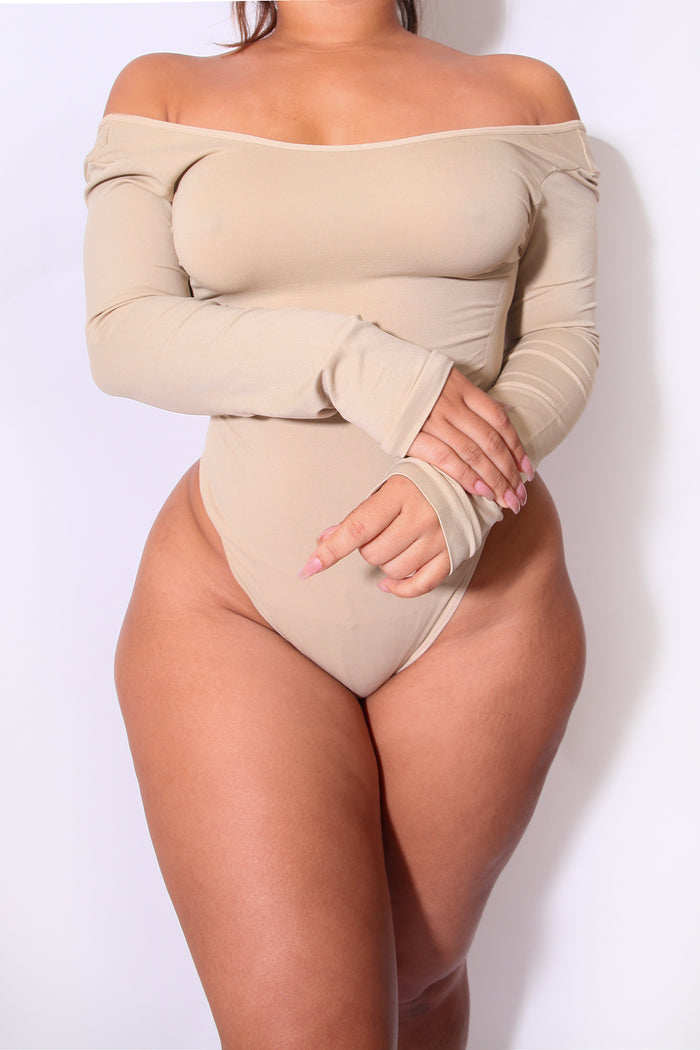 LONG SLEEVE NUDE Body By Babes Bodysuit