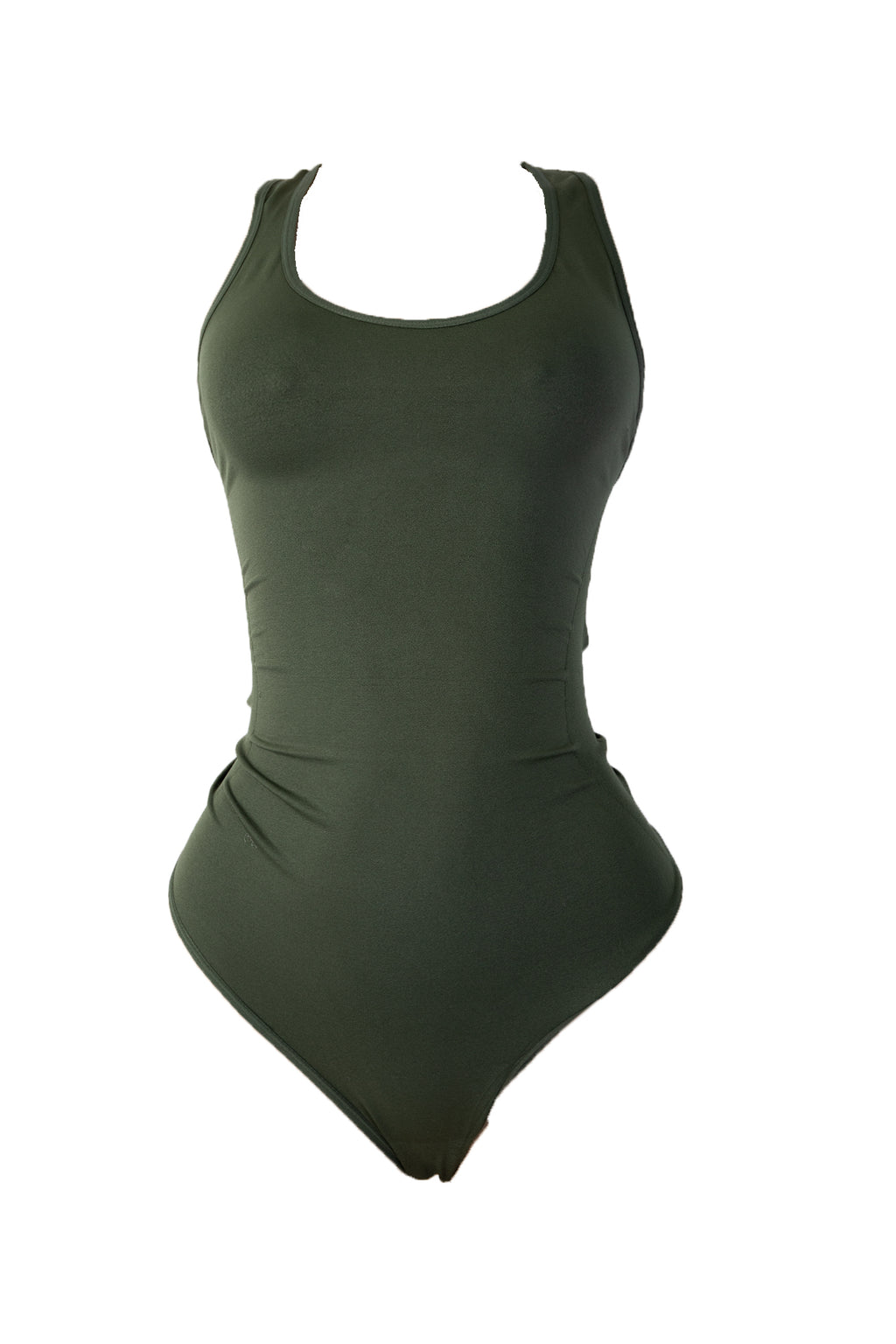 Olive Body By Babes Thong Bodysuit w/ Tummy Control