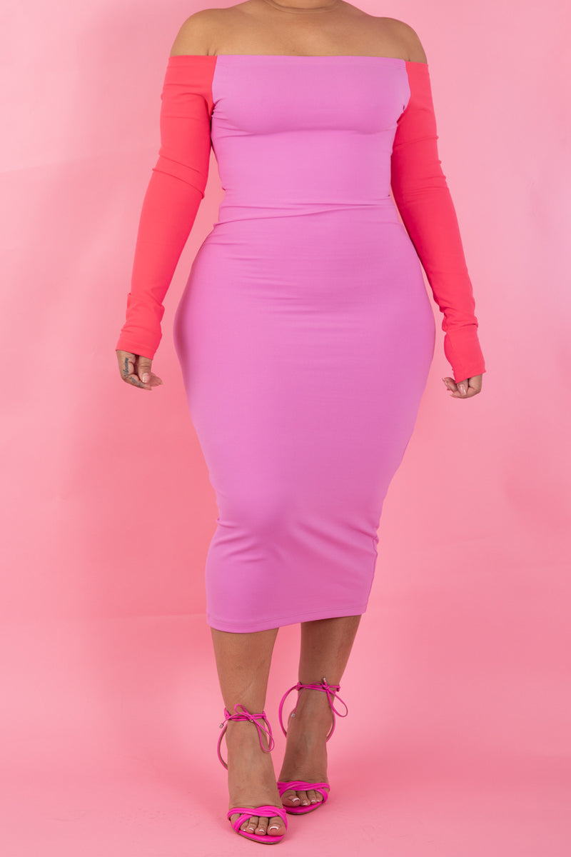 The Wifey Shaping MidI *Two Tone Pink*