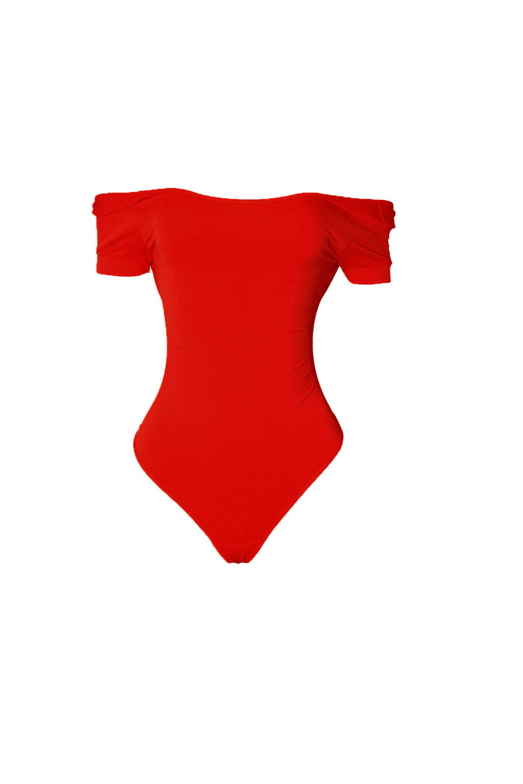 Red Short Sleeve Body By Babes Thong Bodysuit (10836125588)