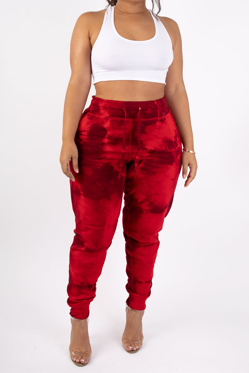 The SELF LOVE Tie Dye Comfy Jogger (Embroidery Option)