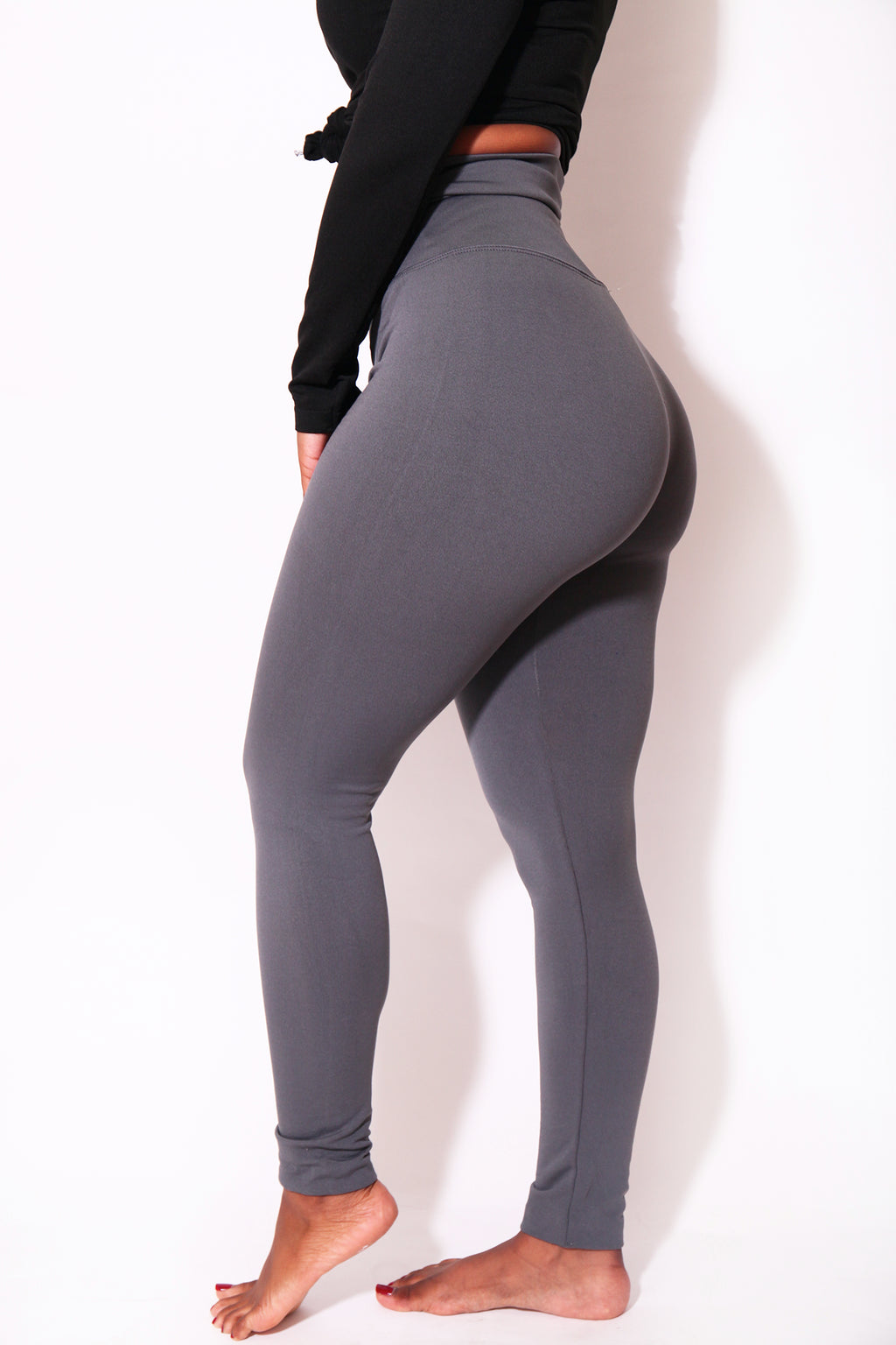 The Gray Yoga Tummy Control Legging fits up to PLUS! (Choose Your Size!) - Babes And Felines | Specializing in Fashionable Staple Pieces for Every Shape and Size (9294263242)