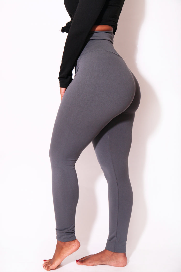 The Gray Yoga Tummy Control Legging fits up to PLUS! (Choose Your Size!) - Babes And Felines | Specializing in Fashionable Staple Pieces for Every Shape and Size