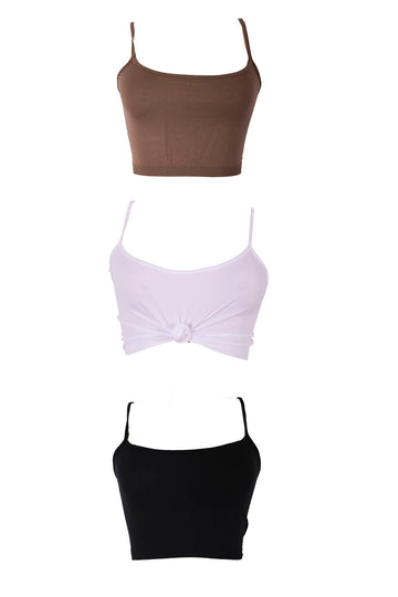 SOPHIA Strappy CROP TOP (7 COLORS)