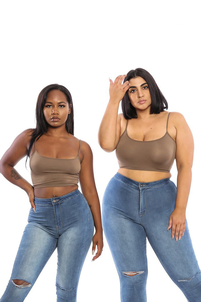 SOPHIA Strappy CROP TOP (6 COLORS) - Babes And Felines | Specializing in Fashionable Staple Pieces for Every Shape and Size (453647269)