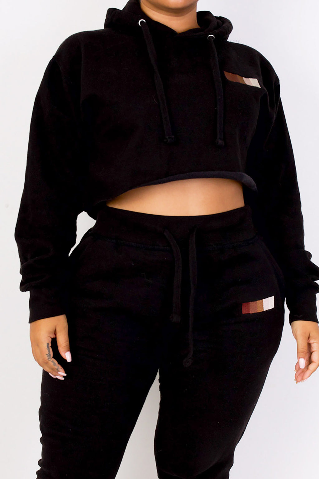 "Babes Comfy Hoodie ""SHADES"" Cropped"