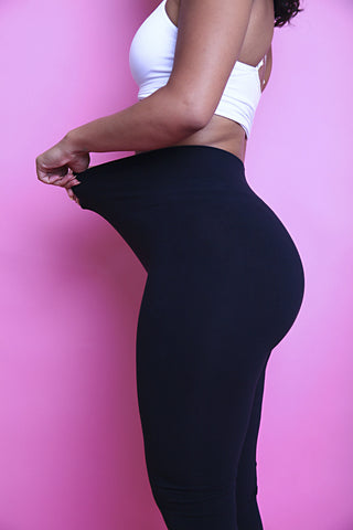 The Black Cotton Tummy Control Legging - Babes And Felines | Specializing in Fashionable Staple Pieces for Every Shape and Size