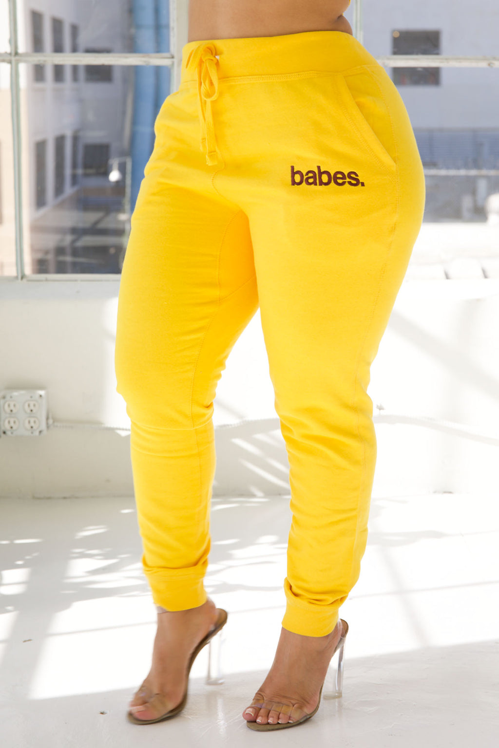 "Babes Comfy Jogger ""Yellow"""