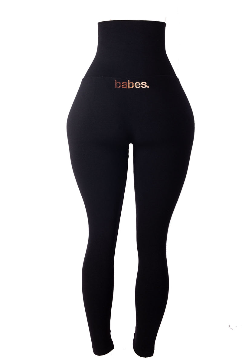 BABES SERIES Black Yoga Tummy Control Legging