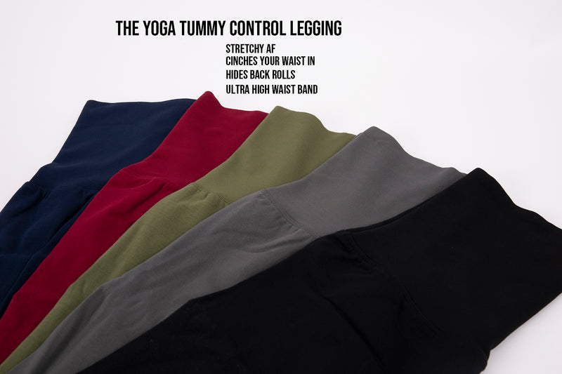 3 Pack-6 Pack Yoga Tummy Control Legging