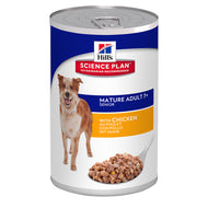 Hills Science Plan Canine Mature Adult 7+ 370g Can (Savoury Chicken)