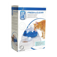 CatIt Fresh & Clear Cat Drinking Fountain with Food Bowl - 3L