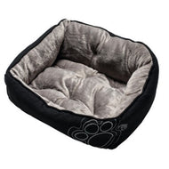 Rogz  Luna Podz Lap Dog Bed Black Paw