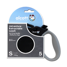 Alcott Adventure Retractable Lead (Black) - Small