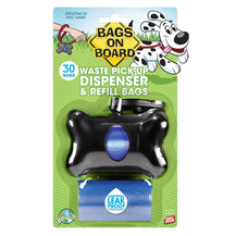 Bags on Board Dog Waste Bag Bone Dispenser - Black