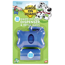 Bags on Board Dog Waste Bag Bone Dispenser - Blue