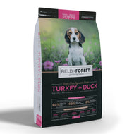 Field and Forest Turkey & Duck for Small - Medium Puppies - Grain Free