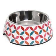 Olly & Max Decorative Melamine Dog Bowl (Red & Pink)