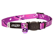 Rogz Catz Kiddycat Safeloc Breakaway Cat Collar - Purple Dragon Fly