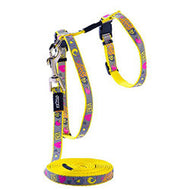 Rogz ReflectoCat Reflective Cat H-Harness & Lead Set - Dayglow Birds