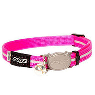 Rogz Catz Alleycat Reflective Breakaway Safeloc Buckle Collar - Pink