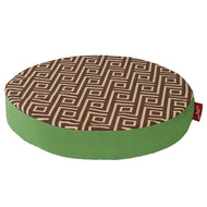 Wagworld Lounger Round Bed (Camel & Green)