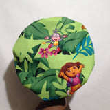 Dora the Explorer and Boots Satin Lined Kids Bonnet (full size)