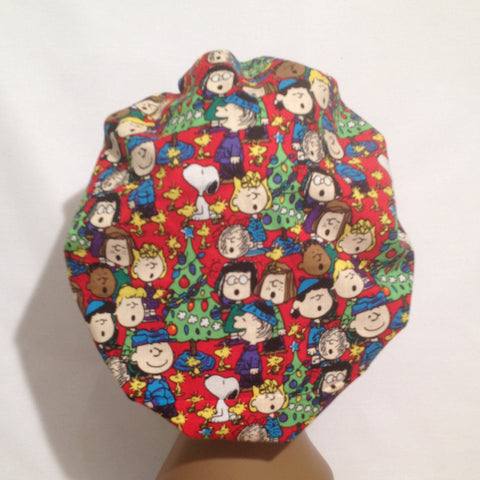 A Charlie Brown Christmas Satin lined Bonnet  ( Large Size)