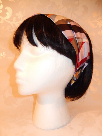 Geometric Print Satin Headband