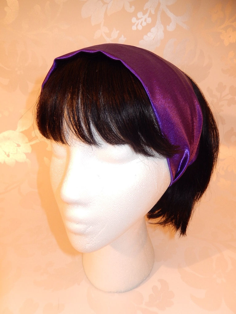 Purple Satin Headband