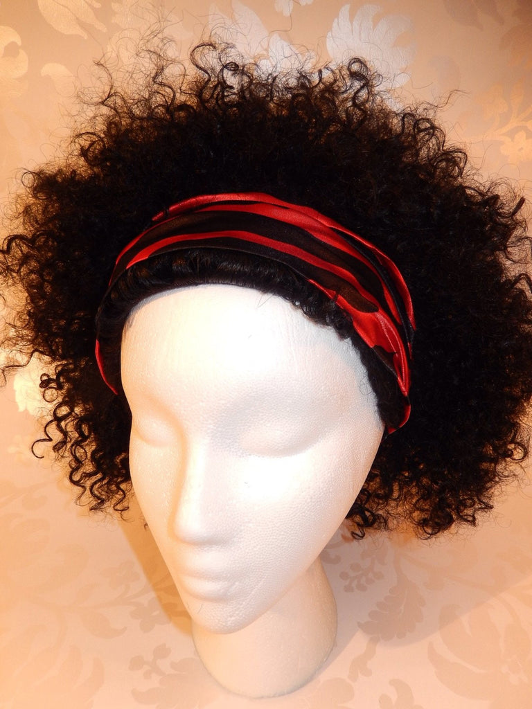 Red Zebra Print Satin Headband