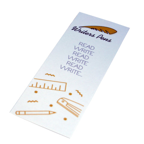 Writers Pens Bookmark - Card - Ideal Gift for Reader, Writer, Kids