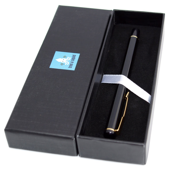 Tree and Squid Fountain Pen Gift Set: Baoer 801 Fine Nib Fountain Pen in Gift Box