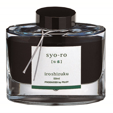 Pilot Iroshizuku 50ml ink bottle for fountain pens: syo - ro (dew on pine tree)