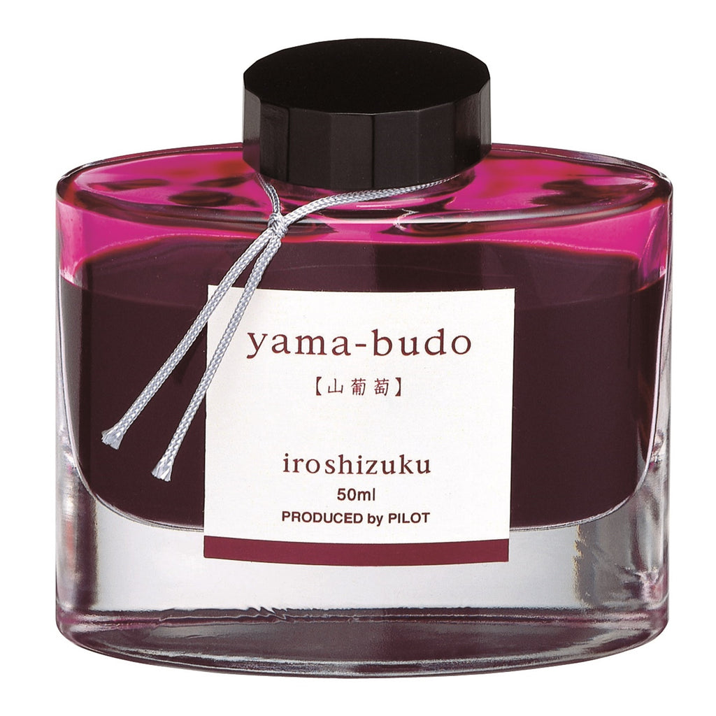 Pilot Iroshizuku 50ml ink bottle for fountain pens: yama - budo (crimson glory vine)