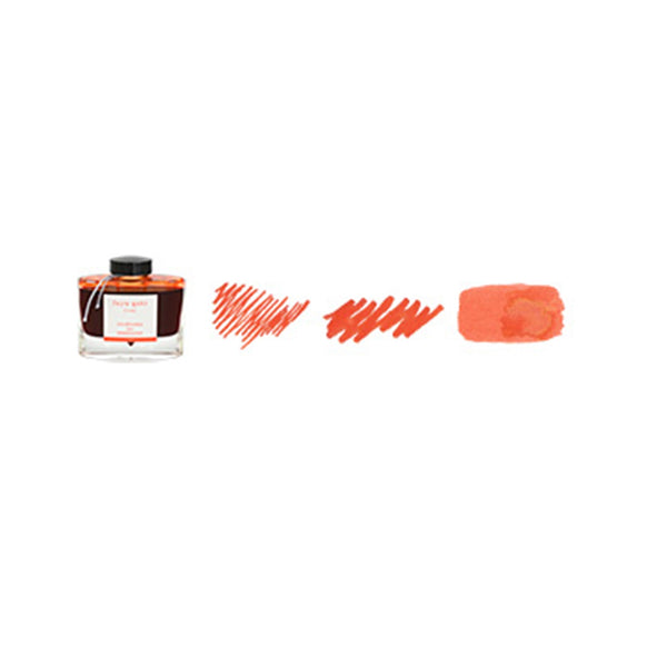 Pilot Iroshizuku 50ml ink bottle for fountain pens: fuyu - gaki (winter persimmon)