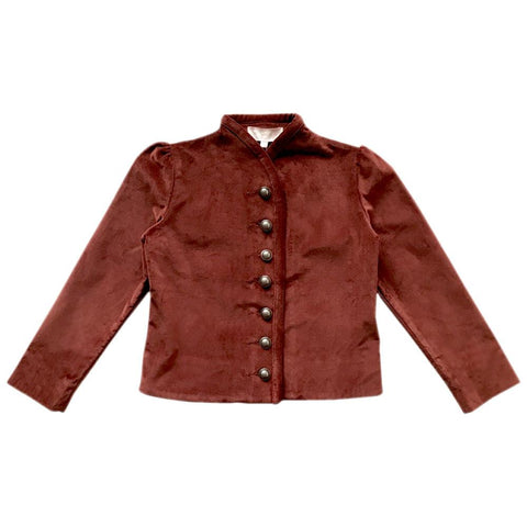 Liesl Velveteen Jacket - Copper
