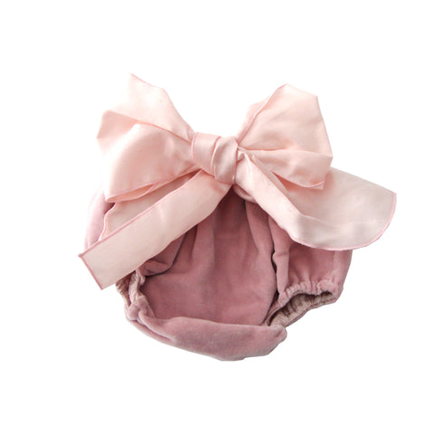 Bow Bloomers - Dusty Pink/Light Pink