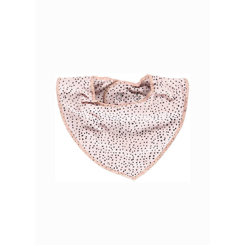 Dribble Bib - Light Rose Grey/Dots
