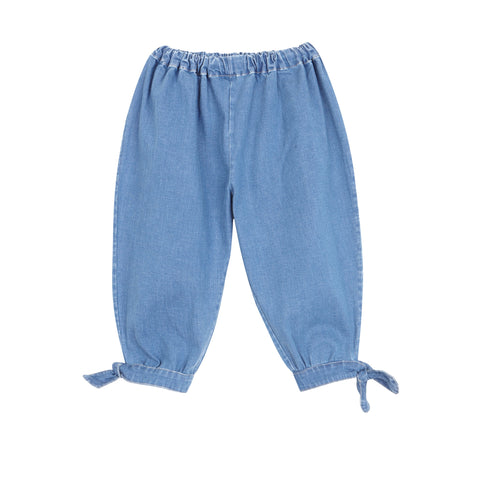 Ballon Trousers - Washed Denim
