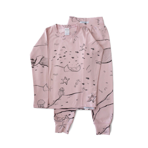 Under the Sea Long PJ Set - Rose