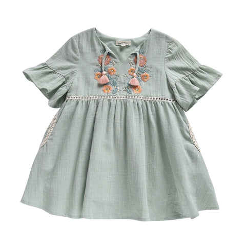 Sakina Dress - Almond